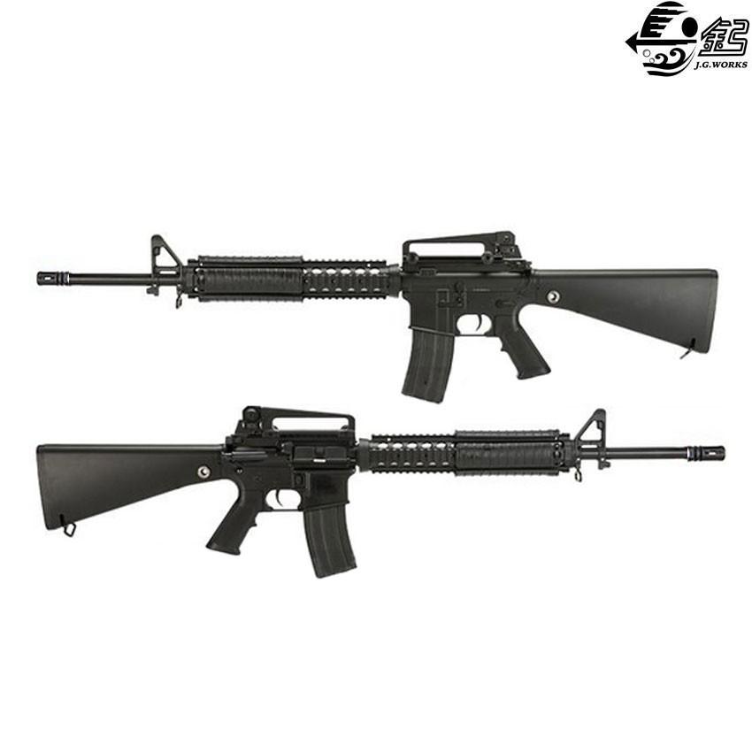 electric rifle m16a4 full metal black jing gong jg 6620 m bk