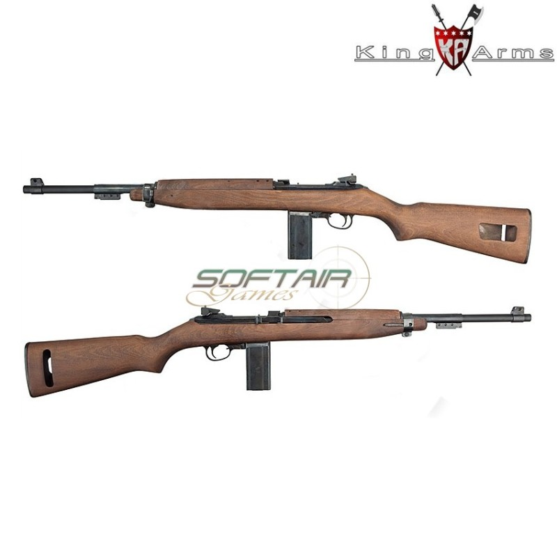 co2 rifle m1 carbine real wood gbb king arms ka ag 127