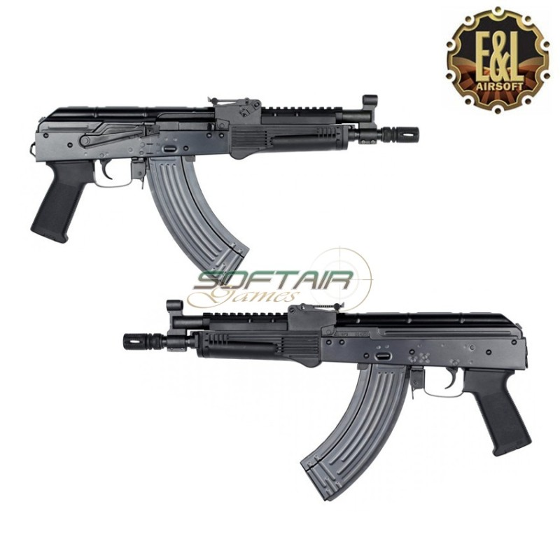 Visser un tub de crosse sur une réplique sans crosse Electric-rifle-aeg-gen2-ak710-custom-pistol-black-platinum-version-el-airsoft-el-a115