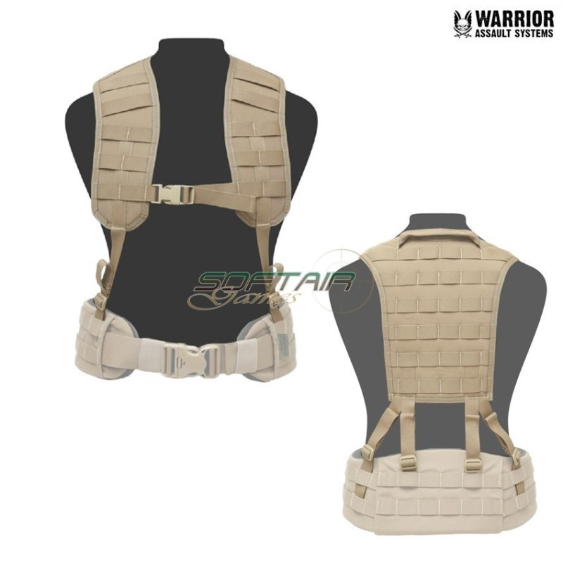 LOAD BEARING MOLLE HARNESS WITH PANEL COYOTE TAN WARRIOR ASSAULT SYSTEMS 87920560e57