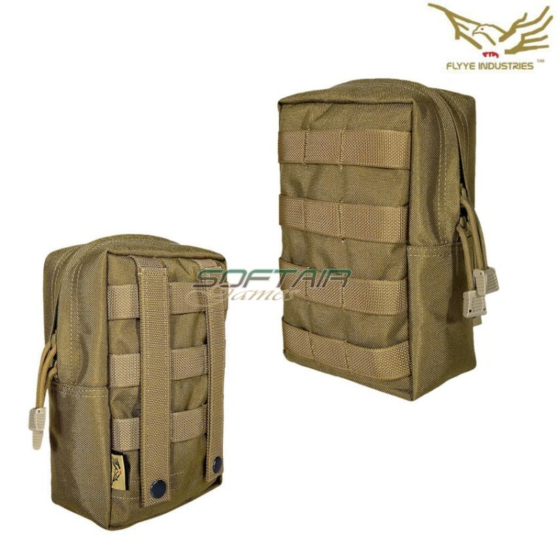 99a3e8a2ad VERTICAL ACCESSORY POUCH COYOTE BROWN FLYYE INDUSTRIES AIRSOFT