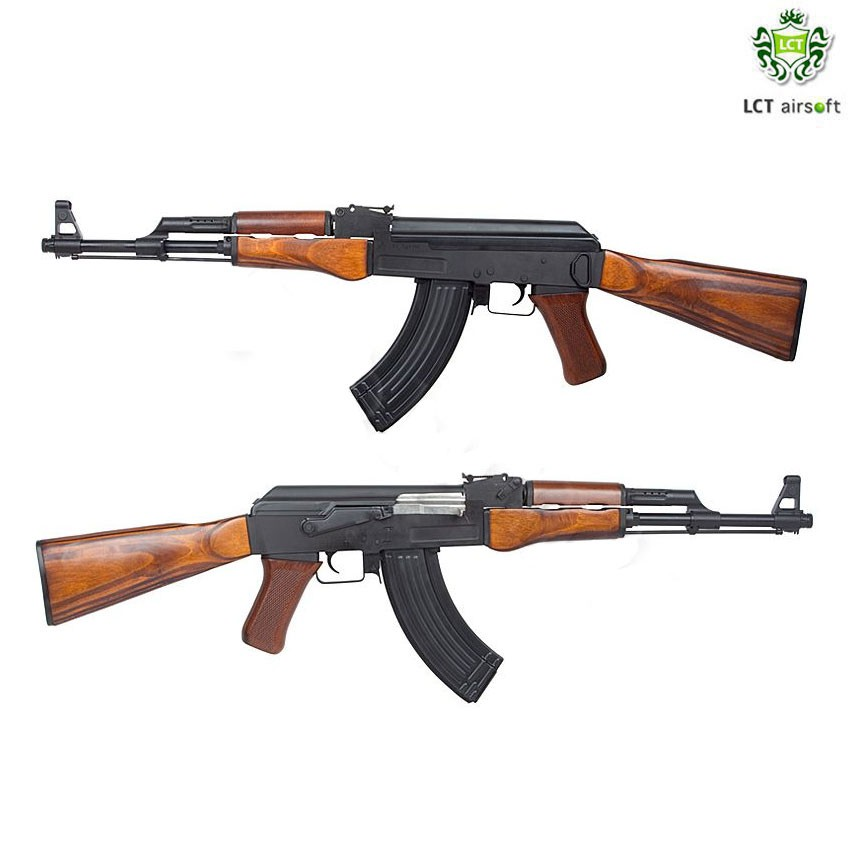 ELECTRIC RIFLE LIMITED EDITION AK47 FULL METAL & REAL WOOD LCT