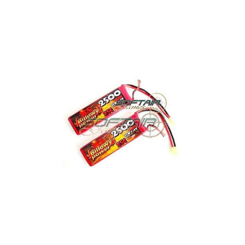 billowy power  SET 2 BATTERIE LIPO 7.4 VX2500mAh 25C X5 BILLOWY POWER(Cod.SB7 ...