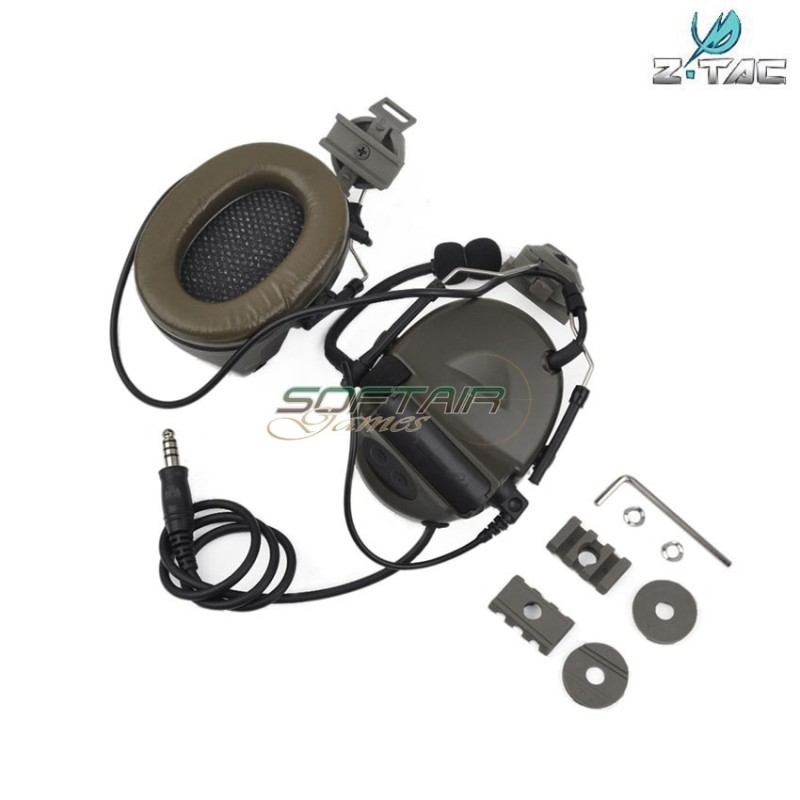 HEADSET/MICROPHONE COMTAC II FOR HELMET ARC SYSTEM Z-TACTICAL