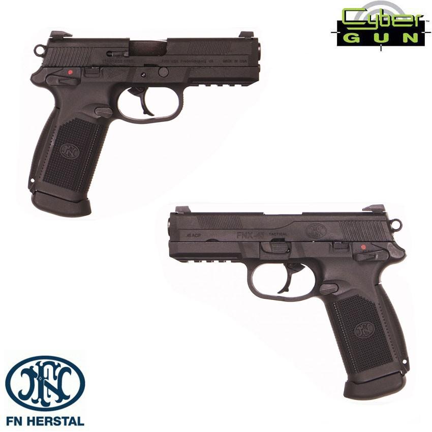 Gbb Gas Pistol Fn Herstal Fnx 45 Civilian Black Blowback Cybergun