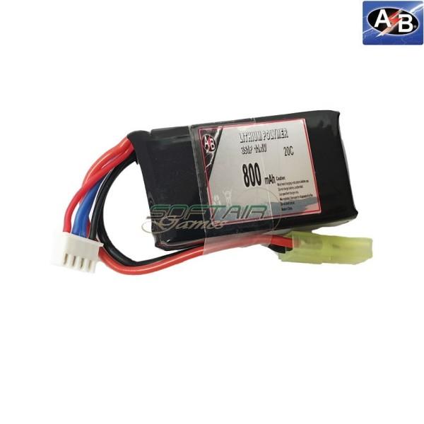 Lipo Battery 800mah 11.1v 15c Action Batteries (ab3s80n20p)
