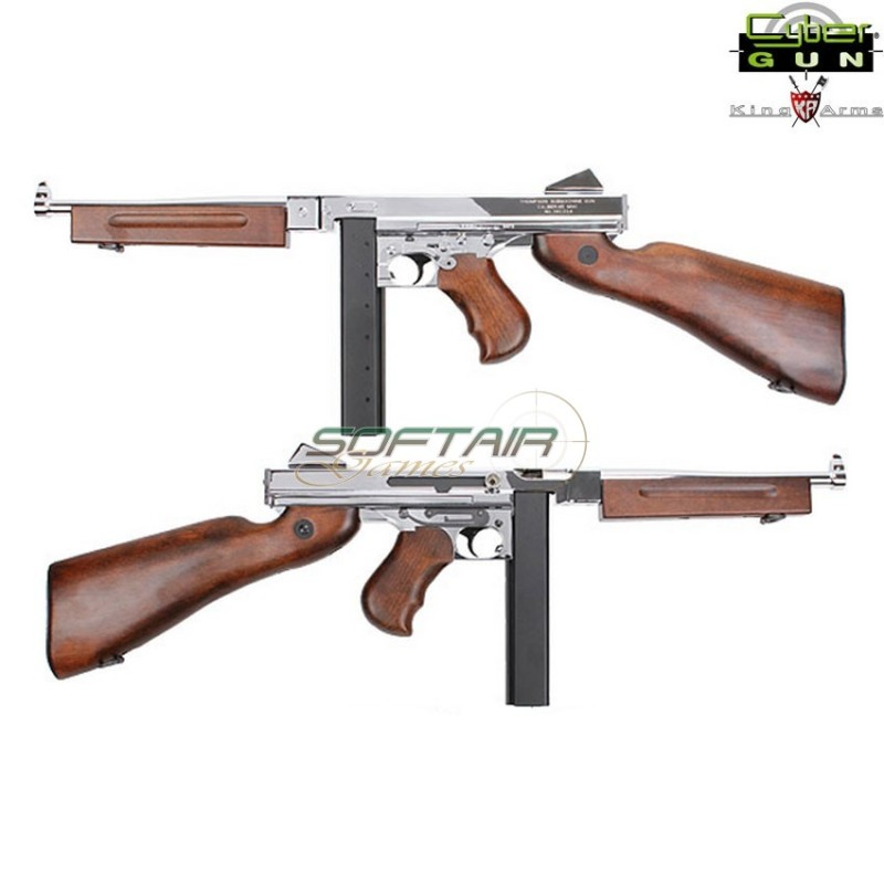 THOMPSON M1A1 SILVER MILITARY GRAND SPECIAL EDITION KING ARMS