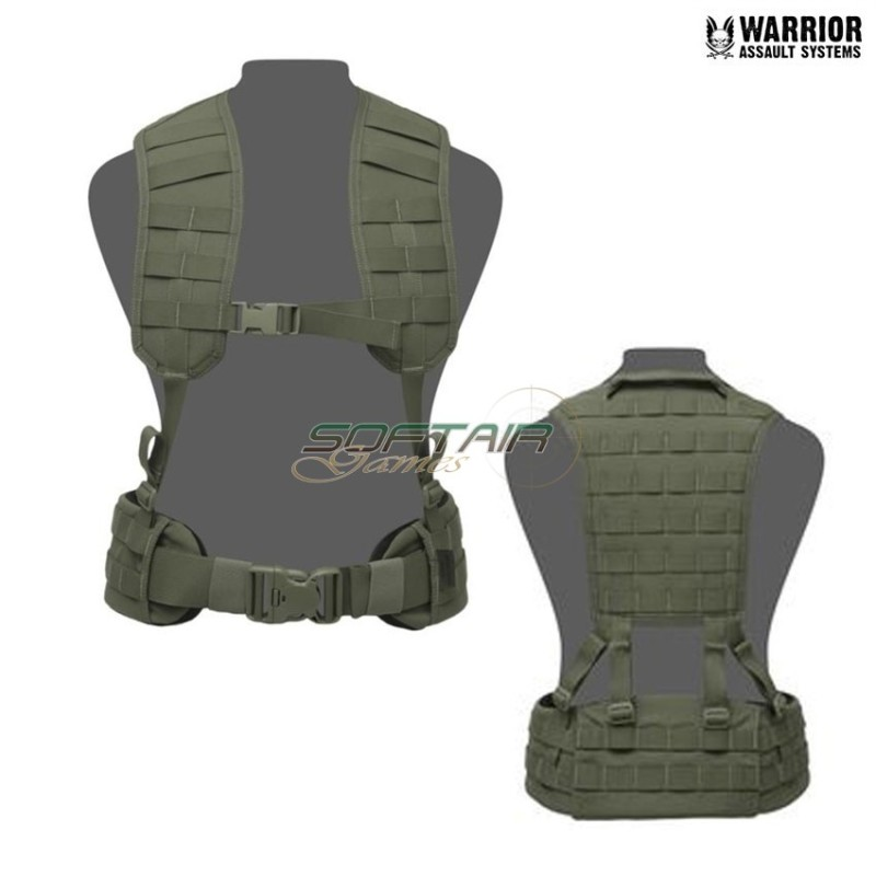 LOAD BEARING MOLLE HARNESS WITH PANEL OLIVE DRAB WARRIOR AULT